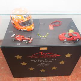 20c56f31 Michael Schumacher Ferrari Signed Cap in Presentation case with a ...
